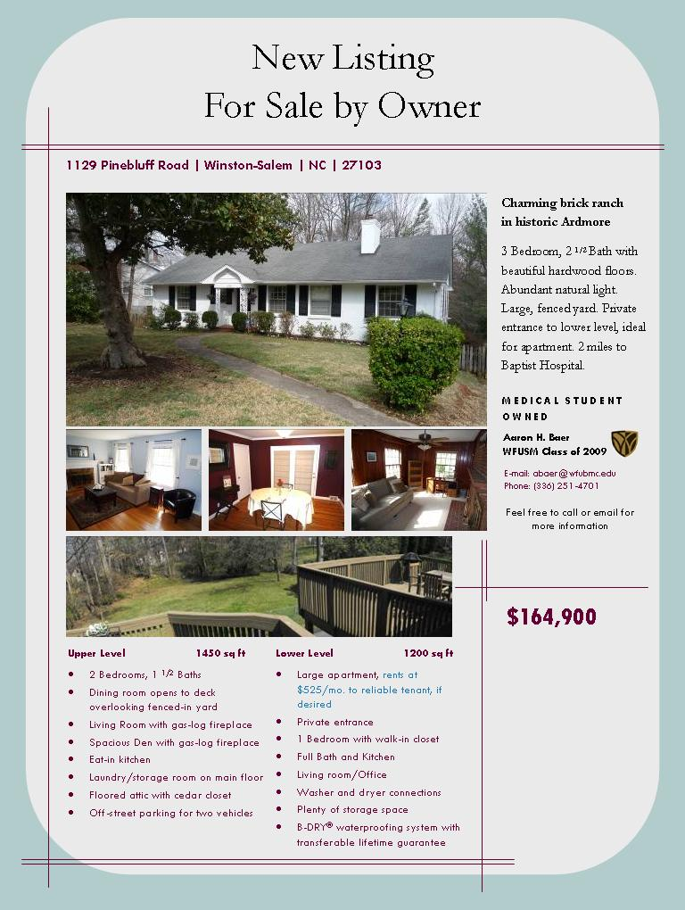 Winston Salem, NC Home for Sale - 1129 Pinebluff Road 27103